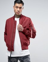 Alpha Industries Ma1-tt Bomber Jacket Slim Fit In Burgundy