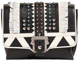 Paula Cademartori Alice Studded Leather Bag W/ Fringe