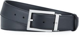 Montblanc Men's Rectangle-Buckle Leather Belt