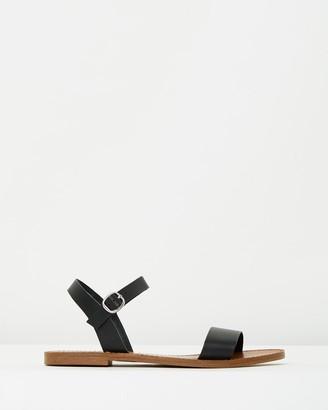 Windsor Smith Women's Black Flat Sandals - Bondi - Size 5 at The Iconic