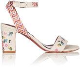 Tabitha Simmons Women's Leticia Fest Linen Ankle-Strap Sandals-NUDE