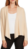 Vince Camuto Drape Front Cotton Blend Cardigan