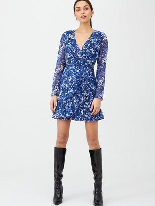 Very Dobby Printed Wrap Dress - Blue Floral