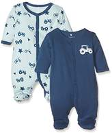 Name It Baby Boys' Nbmnightsuit 2p W/f Ensign Blue Noos Sleepsuit,pack of 2