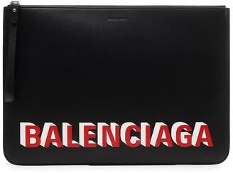 Balenciaga 3D Logo Clutch