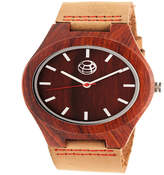 Earth Wood Unisex Brown Strap Watch-Ethew4103