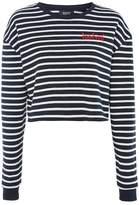 Topshop Forever Stripe Crop Sweatshirt