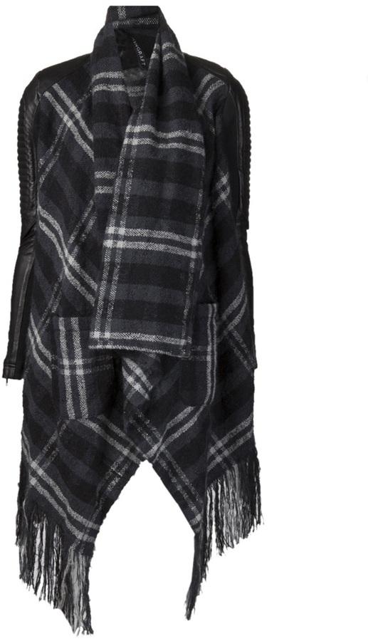 Skingraft tartan scarf cardigan