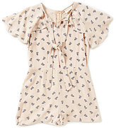 Blu Pepper Big Girls 7-16 Boat-Print Romper