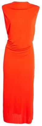 Helmut Lang Sleeveless Twist-Back Midi Dress