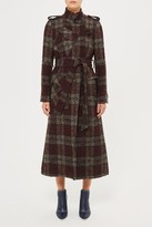 Topshop **Heaton Check Trench Coat by Unique