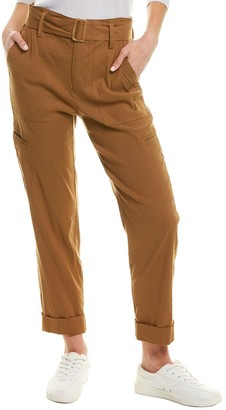 Vince Belted Linen-Blend Pant