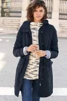 Next Womens Navy Memory Fabric Parka - Blue