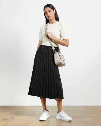 Ted Baker Knit Top Pleated Dress