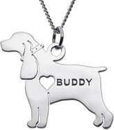 JCPenney FINE JEWELRY Personalized Cocker Spaniel Sterling Silver Pendant Necklace