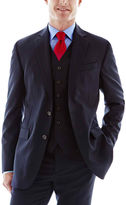 JCPenney Stafford Executive Navy Super 100 Wool Suit Jacket - Classic