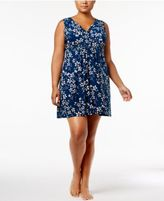 Alfani Plus Size Printed Surplice Chemise, Created for Macy's