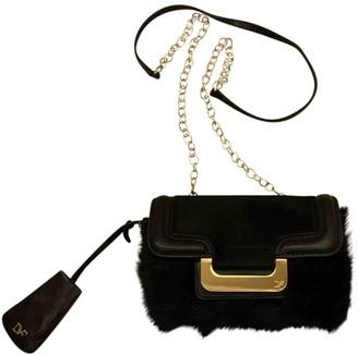 Diane von Furstenberg Black Fur Handbags