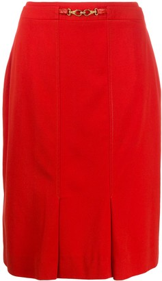 Céline Pre Owned Pre-Owned Hook Detail Straight Skirt