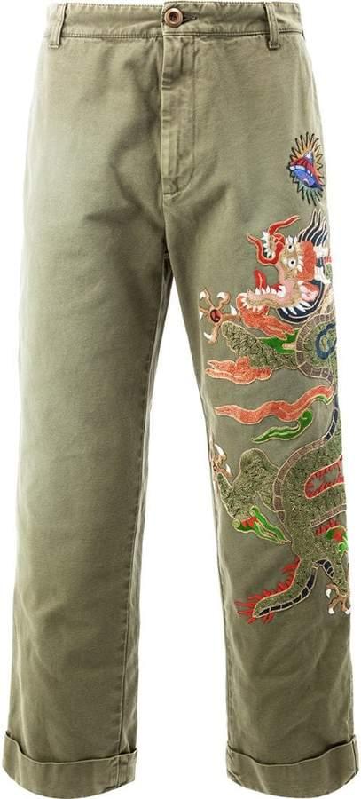 Gucci appliqué loose chinos