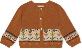 Gucci Kids Floral Intarsia Cardigan