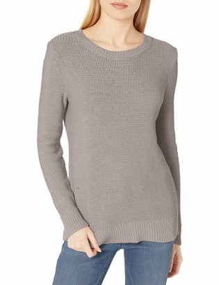 Daily Ritual Amazon Brand Women's Soft Cotton Tape Yarn Beachy Crewneck Sweater