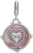Judith Ripka Sterling Silver Gemstone Heart Pendant