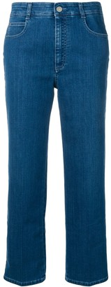 Stella McCartney Cropped Star Seam Jeans