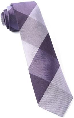 Tie Bar West Bison Plaid Purple Tie