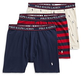 Polo Ralph Lauren Stretch Classic Fit Boxer Briefs - Pack of 3