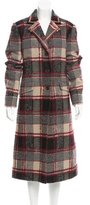 Etro Long Plaid Coat