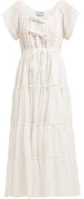 Innika Choo Tiered Cotton Poplin Dress - Womens - White