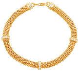 Lord & Taylor 18K Goldplated Sterling Silver Station Popcorn Mesh Bracelet