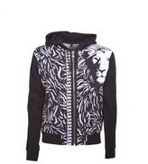 Versus Lion Print Hooded Jacket