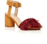 Maison Pre Block Heel Feather Shoes
