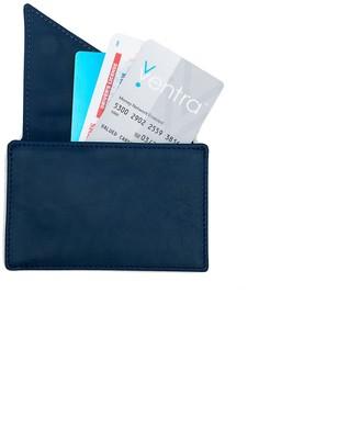 Insider Leather Card Holder Wallet In Navy