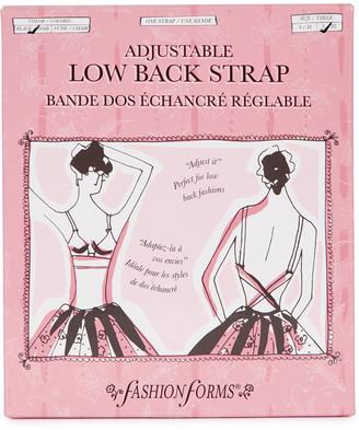 Fashion Forms Black Adjustable Low-back Strap - Set Of 2
