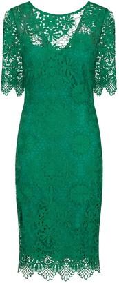 Paper Dolls Outlet Green Crochet Dress