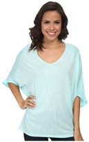 Michael Stars Luxe Slub Dolman Sleeve V-Neck Top