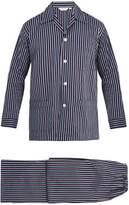 Derek Rose Royal striped cotton-poplin pyjama set