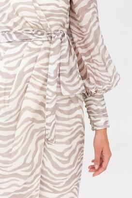 Keepsake PROFOUND MIDI DRESS Creme Zebra