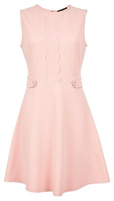 Dorothy Perkins Womens Blush Scallop Dress