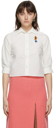 Gucci White Shrunken Button Down Shirt