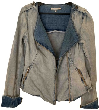 Willow Blue Cotton Jacket for Women