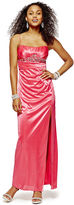 JCPenney REIGN ON Reign On Spaghetti Strap Shirred Long Dress