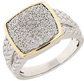 Lord & Taylor Diamond, Sterling Silver and 14K Yellow Gold Ring