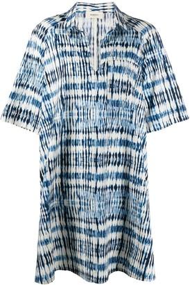 Barena Oversized Abstract Print Shirt Dress