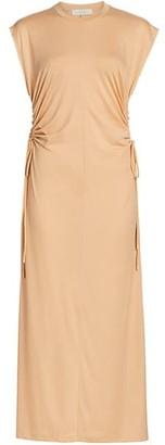 LVIR Jersey Drawstring Maxi Dress