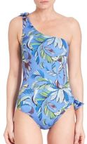 Emilio Pucci One-Piece Jungle Printed One-Shoulder Swimsuit