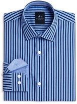 Tailorbyrd Boys' Gingham Stripe Dress Shirt - Big Kid